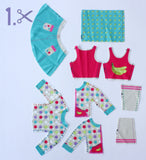 diy barbie clothe fashion design set for kids