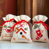 cross stitch kit santa satchel