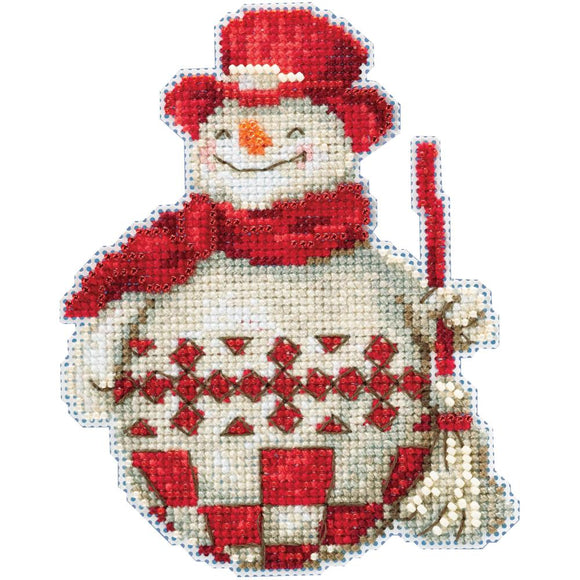 Holiday Cross Stitch Kit, Nordic Snowman