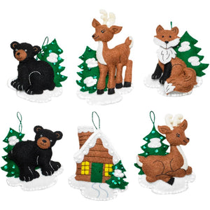 diy christmas ornament kit black bears and deer