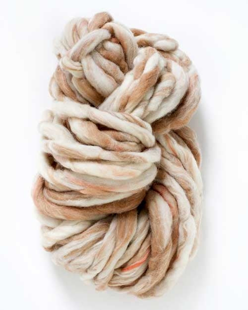 Sand Dune, Jumbo super bulky wool knitting yarn by Knit Collage
