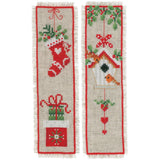 cross stitch kit 2 shristmas booksmarks