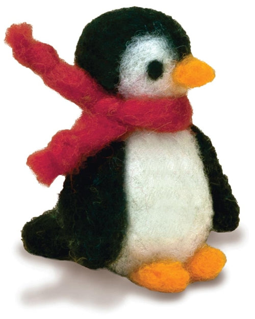 beginner needle felting kit adorable penguin