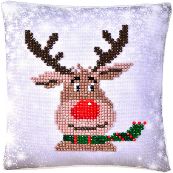 christmas decorations sparkly reindeer pillow kit