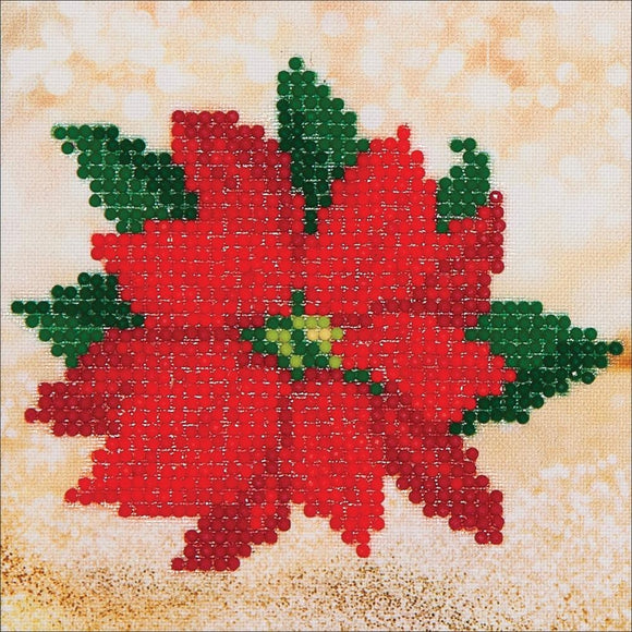 christmas home décor red poinsettia canvas wall art
