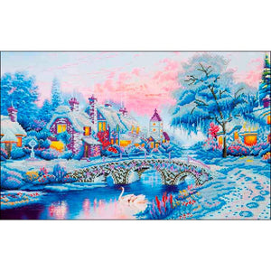 diamond dotz snowy winter village kinkade