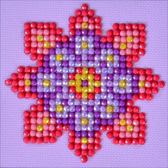simple diamond dotz practice flower mandala