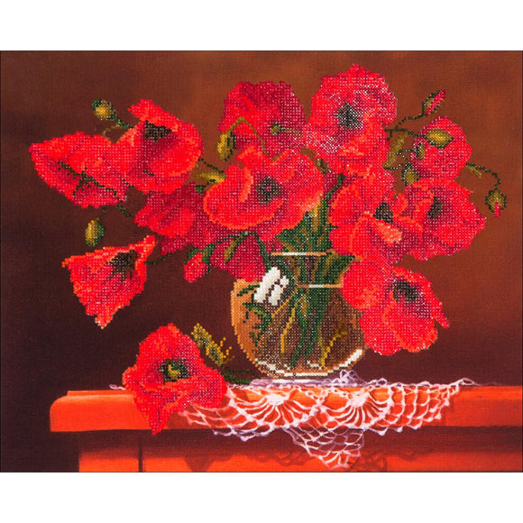 diamond dotz sparkly canvas wall art red poppies