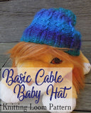 free loom knitting pattern preemie baby hat