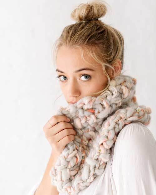 bulky knitted cowl knitting pattern
