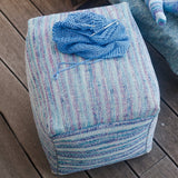 gedifra yarn elba colore pouf knitted