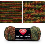 red heart super saver variegated yarn fall