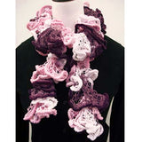 euro yarns fluffy boa furry yarn ruffle scarf