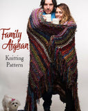 free afghan knitting pattern family throw boho