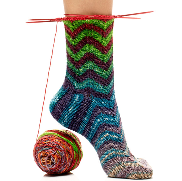 free sock knitting pattern uneek sock kit chevron