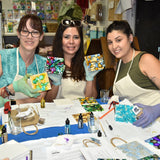 family activities in big bear art classes decorate coasters