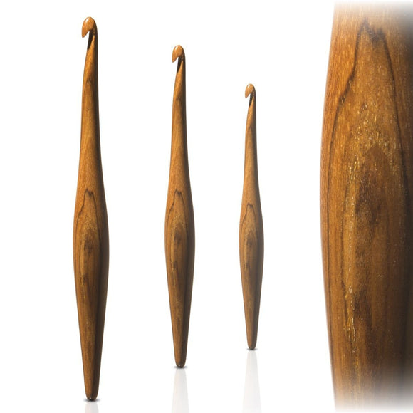 furls crochet hook streamline wood teak