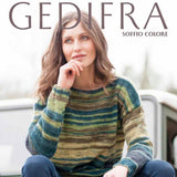 gedifra yarns soffio colore knitted sweater olive green