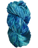 quick knit hand dyed yarn bulky chunky lumpy blues