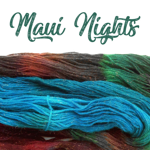 hand dyed yarn maui nights worsted weight alpaca merino