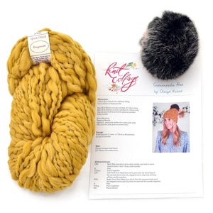 Crossroads Hat Knitting Kit, by Knit Collage