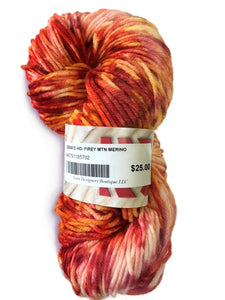 red hand dyed yarn for gift