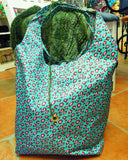 leopard print knitting project bag crochet