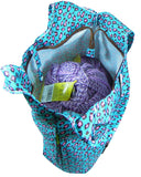 large capacity knitting prject bag knit on the go