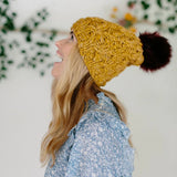 knit collage crossroad hat pattern with yarn