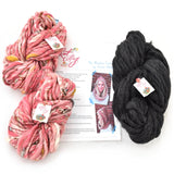 knit collage yarns charcoal heather sister and chelsea morning daisy chain