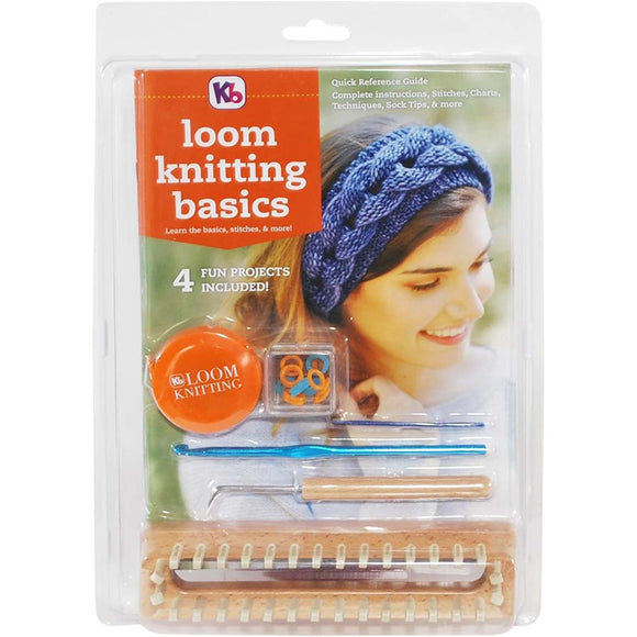 Loom Knitting Kit by KB, Learn the Basics