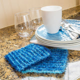 sparkly scrubby yarn red heart dish cloth knitting pattern