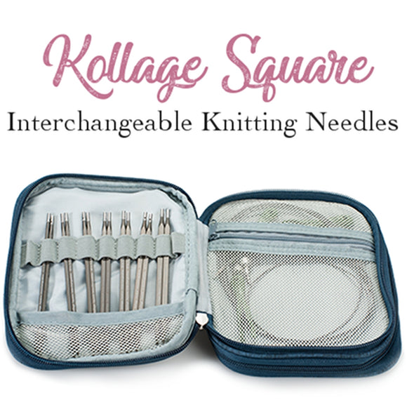 kollage square ergonomice knitting needle set