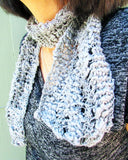 Venus Lacy Scarf or Cowl, Beginners Knitting Pattern