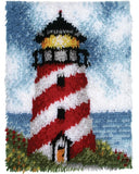 latch hook kit lighthouse home décor diy cushion