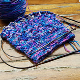 Magenta & Blues, Sock Yarn with Sparkle