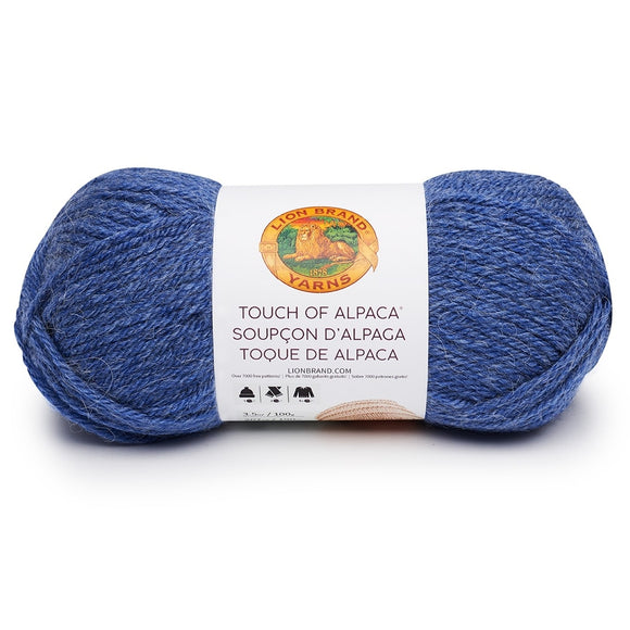 lion brand touch of alpaca blue
