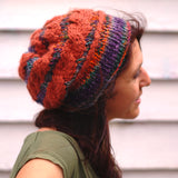 slouchy loom knit hat