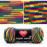 red heart super saver variegated yarn mexicana