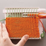how to weave on clover mini weaving loom