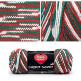 red heart super saver variegated yarn mistletoe