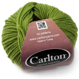 moss green carlton yarns superwash merino wool