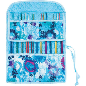 knitting needle case mary maxim roll up and tie shut watercolors