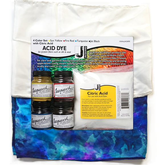 silk scar dyeing kit with jacuard acid dyes