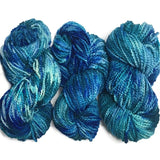 Ocean Waves Hand Dyed Yarn, Chunky Lumpy Merino Wool