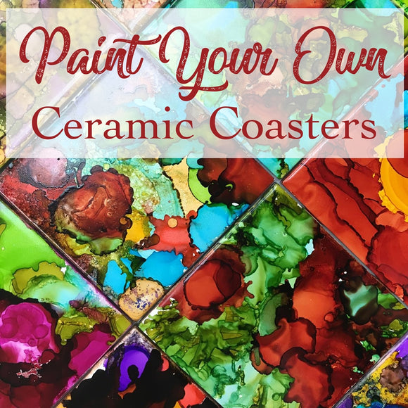paint your own coasters with alcohol ink fun things to do big bear california