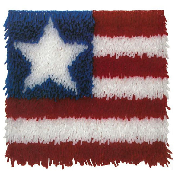 Patriotic Flag Latch Hook Kit by Wonder Art, 12