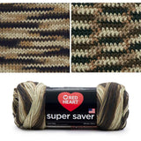 red heart super saver variegated yarn platoon
