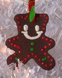christmas tree ornament diy gingerbread man puffy paint