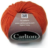 bright orange pumpkin patch superwash merino yarn carlton